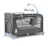Кровать - манеж Kinderkraft Joy с аксесуарами Blue (KK_JO02a)