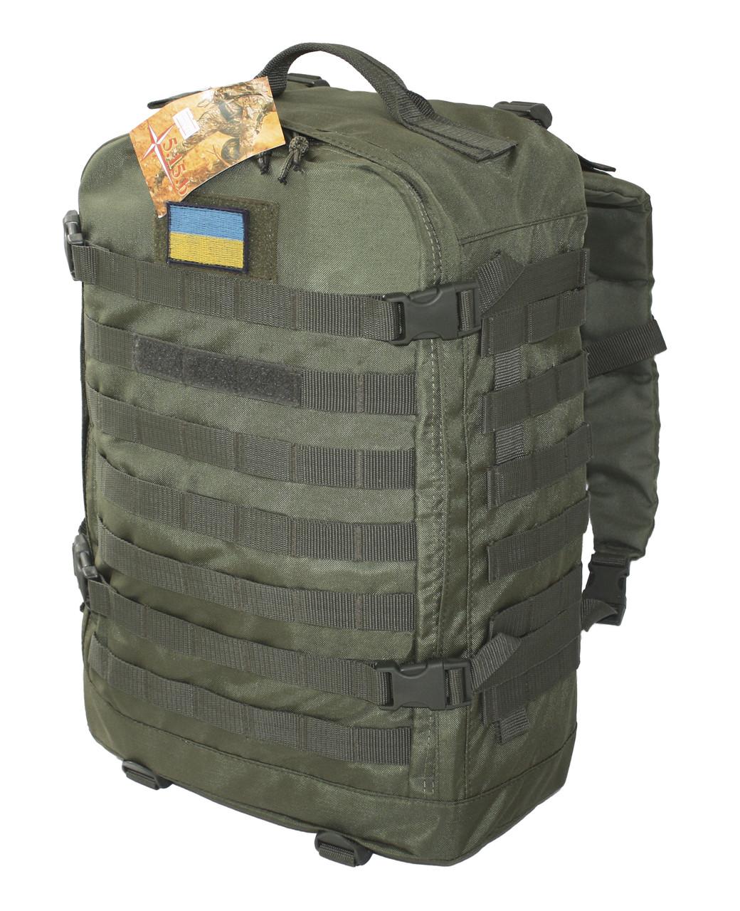 Тактический, штурмовой супер-крепкий рюкзак 32 литра олива. Армия, РБИ, РБІ