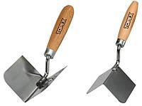 Кельма штукатурная нержавеющая для внутренних углов 85х60 мм Topex 13A830