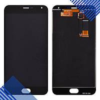 Дисплей Meizu M2 Note с тачскрином в сборе, цвет черный, черный шлейф, копия высокого качества