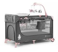 Кровать - манеж Kinderkraft Joy с аксесуарами Pink (KK_JO01a)