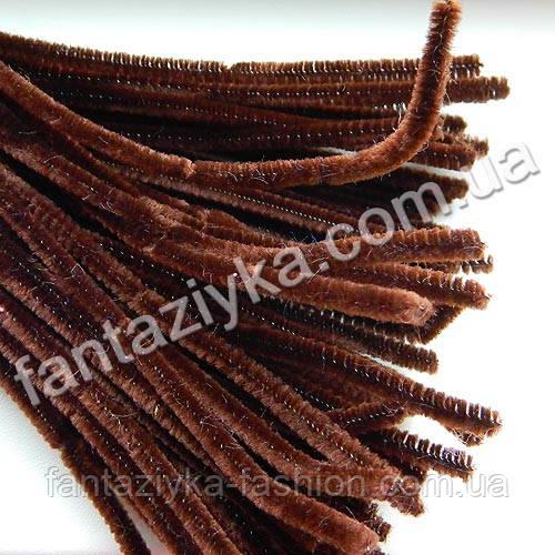 Синельная проволока 30см, темно-коричневая