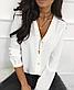 Блузка классическая однотонная с рукавом , фото 2
