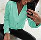 Блузка классическая однотонная с рукавом , фото 4