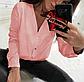 Блузка классическая однотонная с рукавом , фото 5