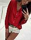 Блузка классическая однотонная с рукавом , фото 6