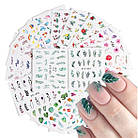 Слайдеры мелкие, яркие  водные наклейки для ногтей, фото 2