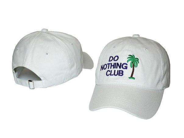Белая кепка Do nothing club