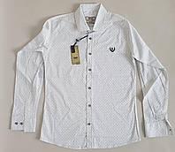 Рубашка подростковая белого цвета с мелкой крапинкой