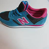 Кроссовки женские синие с розовым New Balance 420 (7075-5) код 161А