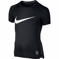 Короткий рукав для мальчиков Термобелье Nike Cool Compression 726462-010 JR(02-08-06-02) S