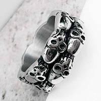 Байкерское кольцо из медицинской стали черепа 11 мм 101655