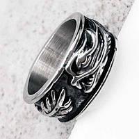 Байкерское кольцо из медицинской стали Дракон 19 мм 101656