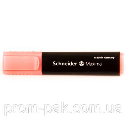 Красный текстовыделитель  шнайдер красный, фото 2