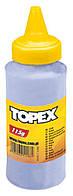 Порошок меловой для шнуров разметочных, 115 г, голубой Topex 30C616