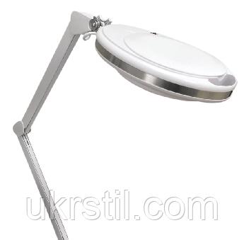 Лампа-лупа настольная 6027К-Н LED холодный/теплый свет, 1-12W