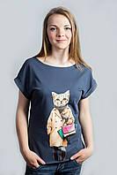 Женская футболка с котом (лето), фото 1