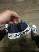Конверсы женские темно синие кроссовки кеды конверсы AIL STAR в стиле Converse, фото 2