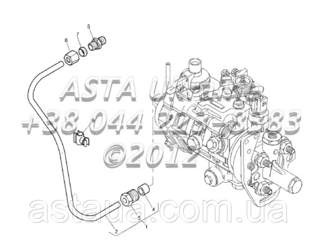 Контроль наддува трубы, двигатель 1104C-44Т, RG38101 Г1-3-5