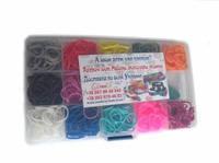 Набор Mini 600 в пластиковом кейсе для плетения браслетов в стиле Rainbow loom зебра