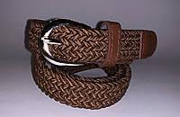 Ремень плетенная резинка (унисекс) F610 (коричневый)