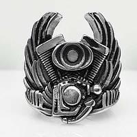 Байкерское кольцо Мотор байка из медицинской стали 26 мм 101679, фото 1