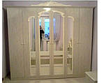 Шкаф 6Д Империя  (Світ мебелів) роза лак, фото 2