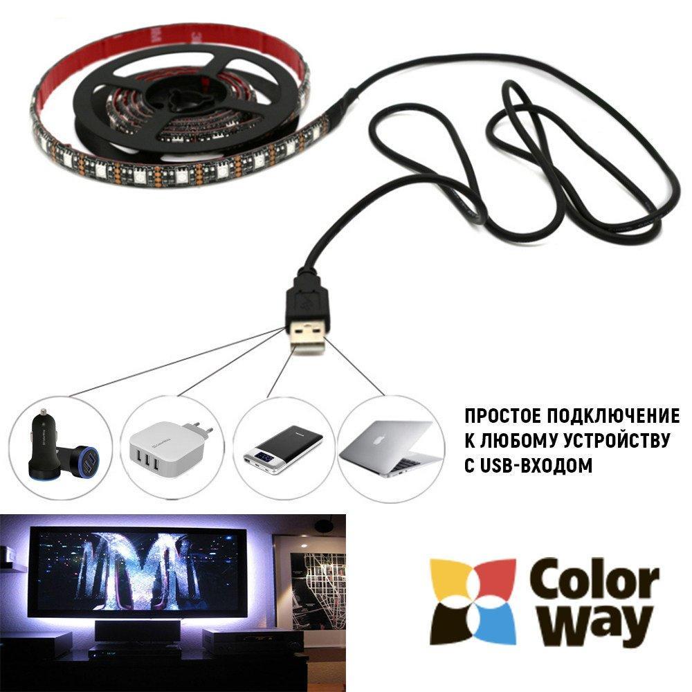Светодиодная лента ColorWay Single Color 0.9 м (CW-LSSC09-001)