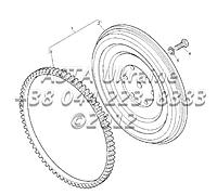 Маховик и кольцо стартера, двигатель 1104C-44Т, RG38101 Г1-4-1