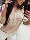 Однотонна блузка з коміром стійка укорочений рукав, фото 2