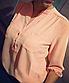 Однотонна блузка з коміром стійка укорочений рукав, фото 8