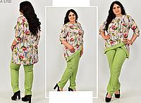 Яркий костюм женский с удлиненной туникой, с 54-66 размер, фото 1