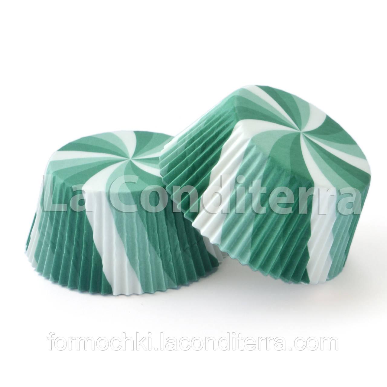 Бумажные формы для кексов «Вертушка Зеленая» (Ø50 мм), мин. партия от 2000 шт.