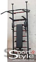 Шведская стенка Sport Power (black) с держателями штанги. Бесплатная доставка по Украине! Акционная цена!