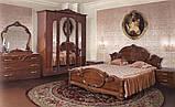 Шкаф 6Д Империя  (Світ мебелів) роза лак, фото 4