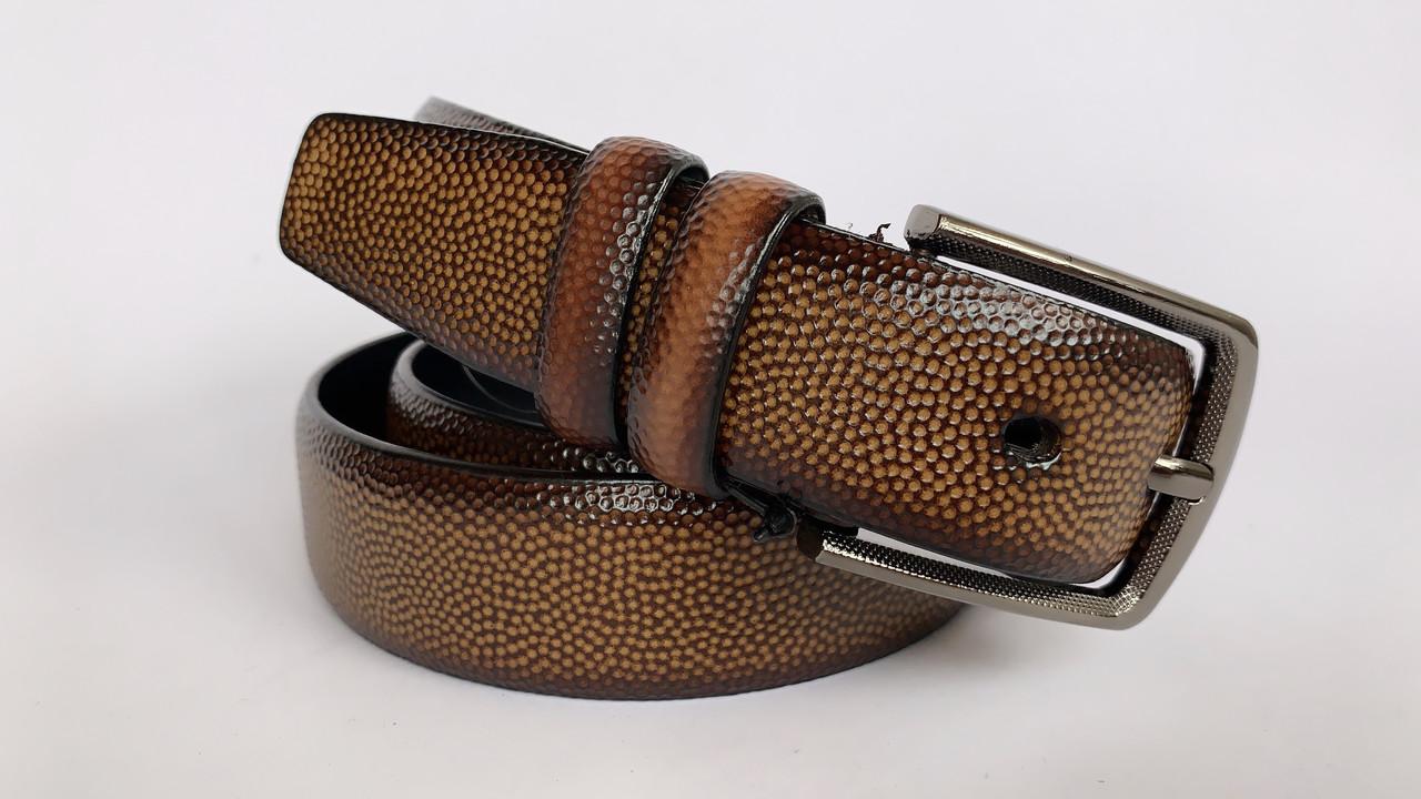 Мужской ремень М-119-3 (коричневый)