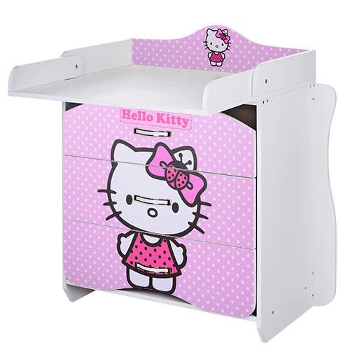 Детский комод-пеленатор MV-910-16 Hello Kitty Розовый