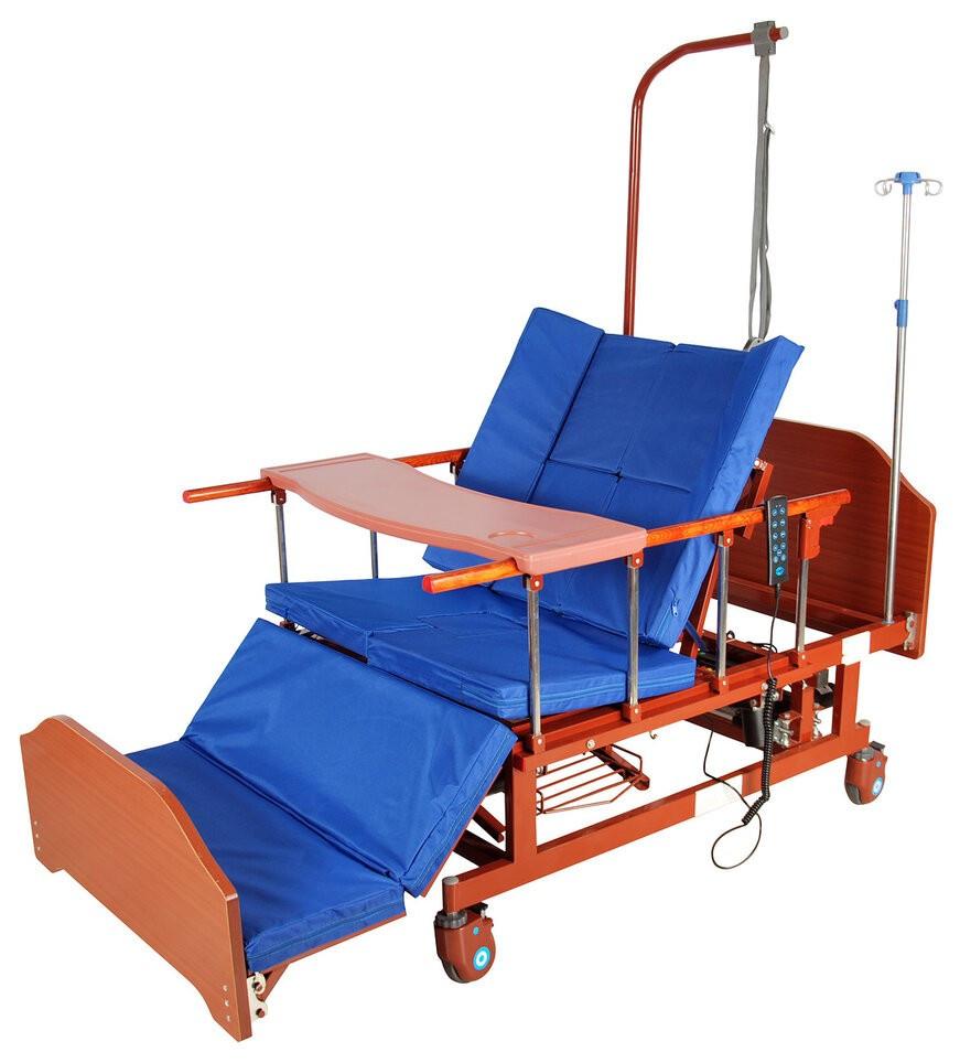 Кровать электрическая DB-11А с боковым переворачиванием, туалетным устройством, функцией «кардиокресло»