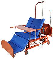 Кровать электрическая DB-11А с боковым переворачиванием, туалетным устройством, функцией «кардиокресло», фото 1