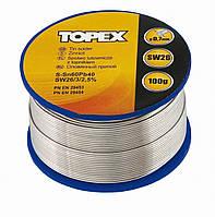 Припій олов'яний 60%Sn, проволока 0.7 мм,100 г Topex 44E512
