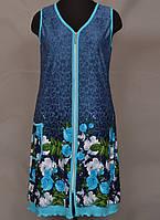 3d9fa8ed889 Короткий халат женский на молнии домашний (100% хлопок) фасон сарафан  летний Украина