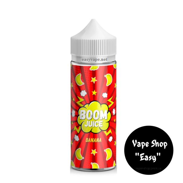 BOOM Juice Банан 120 мл жидкость для электронных сигарет\вейпа 3 мг.