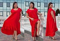 Свободное жаккардовое платье большого размера