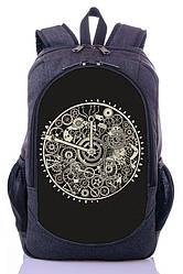 Рюкзак городской спортивный с принтом часы Zaino (504)