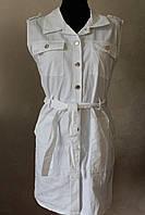 Платье коттон на пуговицах белый