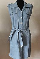 Платье коттон на пуговицах джинс