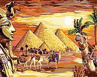 """VP 421 """"Загадочный Египет"""" Роспись по номерам на холсте 40х50см"""