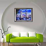 """Алмазная живопись картина """"Тауэрский мост"""" (40*30 см) Полная закладка, фото 8"""