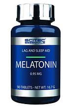 Мелатонин Melatonin Scitec 90 табл  для сна, гормон сна, мелатонін