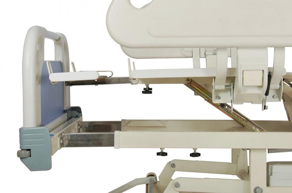 Кровать электрическая DB-3 (5 функций) с выдвижным ложементом и ростоматом CPR+аккумулятор с ростоматом